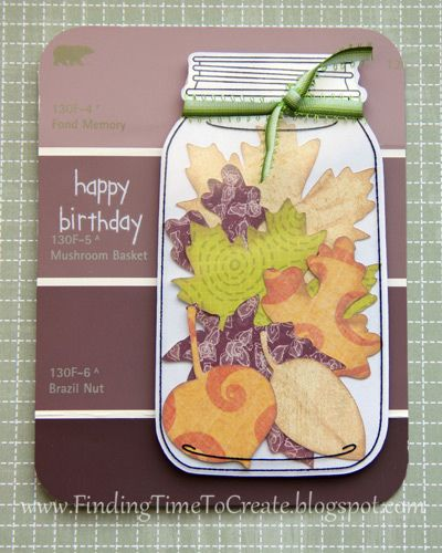 Fall Card with Silhouette jar design