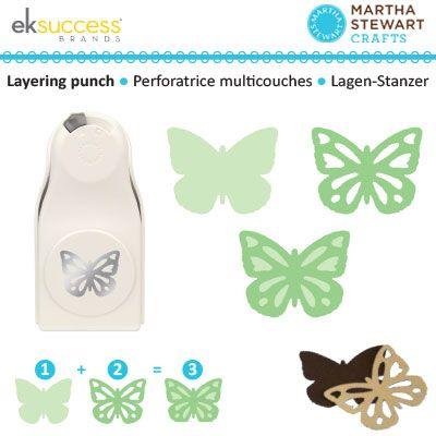 Perforatore grande farfalla 3 scelte - Martha Stewart