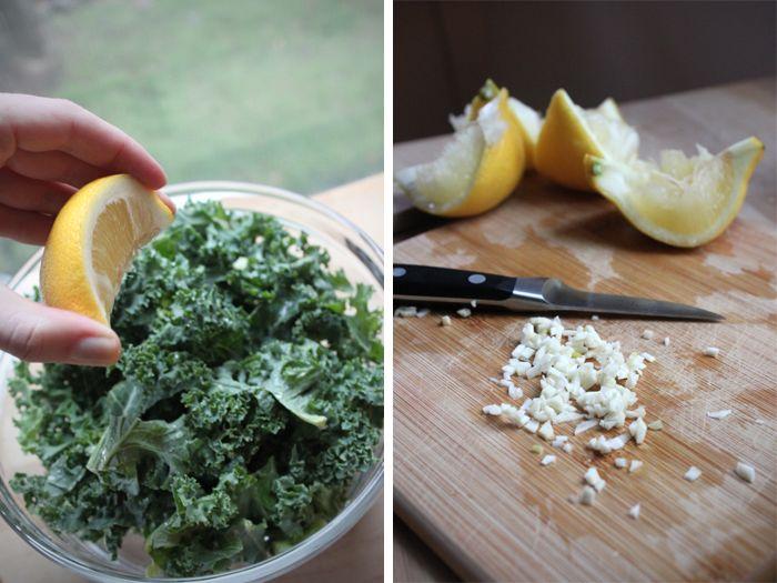 Spicy Kale salad!  SO tasty.  Recipe on:  http://www.moorea-seal.com