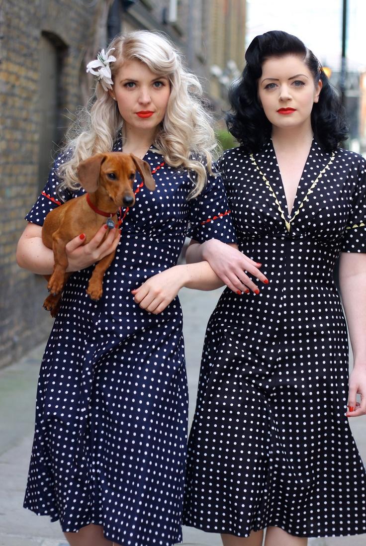 forties polka dot dresses