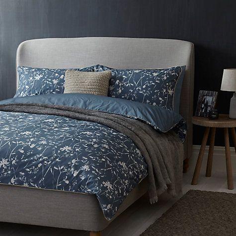Buy John Lewis Freya Cotton Bedding, Loch Blue Online at johnlewis.com