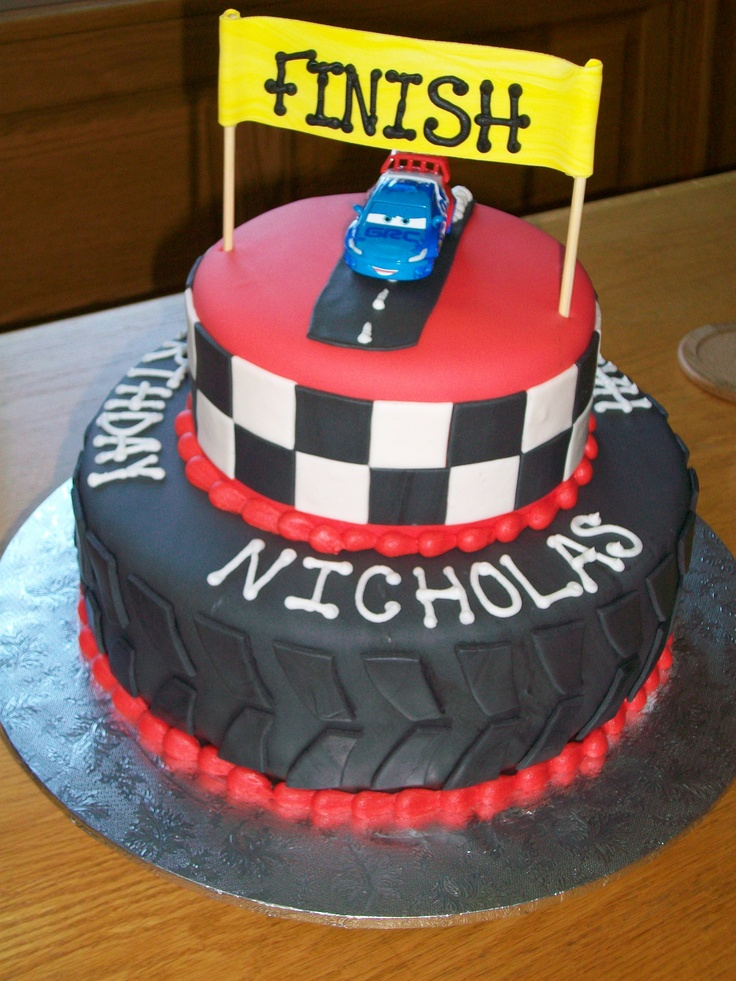 Race Car birthday cake!