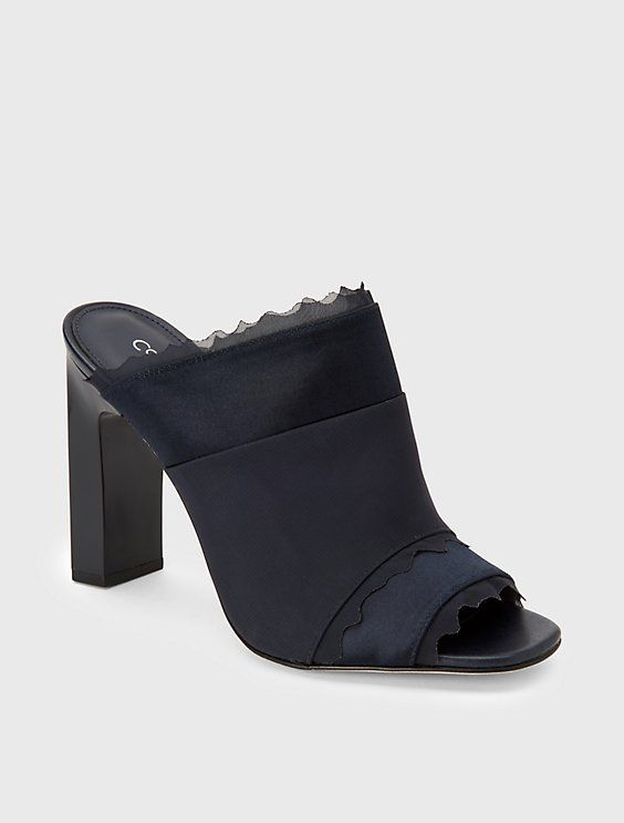 Image for marrese satin mule from Calvin Klein