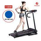 Portable Folding 1100W Electric Motorized Treadmill Running Gym Fitness Machine