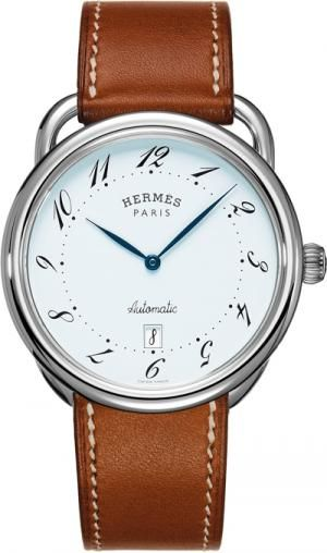 Hermes watch - been looking for a man's  watch w/ brown leather strap and oooh this is nice.