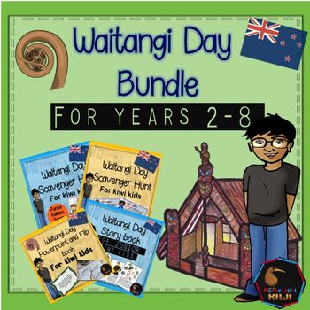 Waitangi Day Bundle. Resources to teach about Waitangi Day for new Zealand classrooms for children aged year 2-8. This bundle of activities has something for everyone including a powerpoint, interactive activities and opportunities for discussion. Includes all of the following.