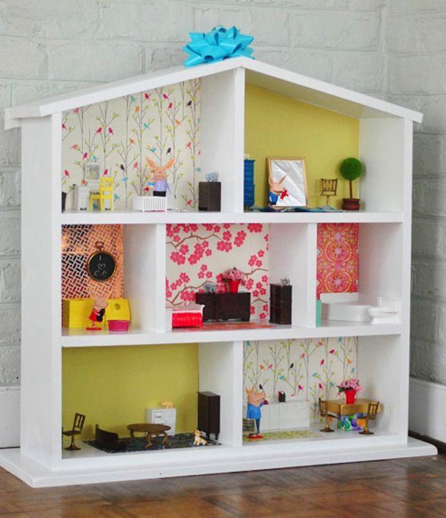 C mo hacer una casita de mu ecas en casa a partir de - Como hacer casa de madera ...