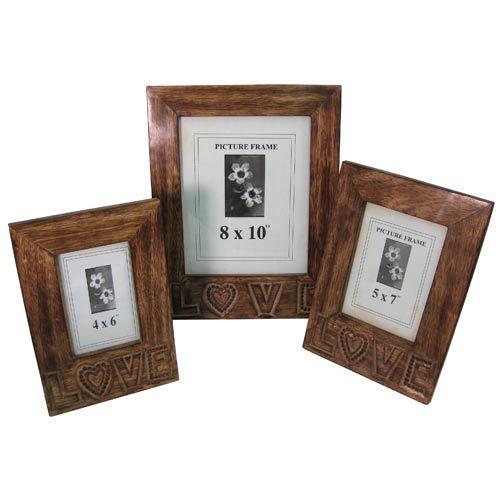 Once A Tree Set of 3 Love Design Photo Frames