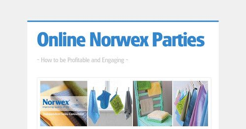How to online Norwex Party