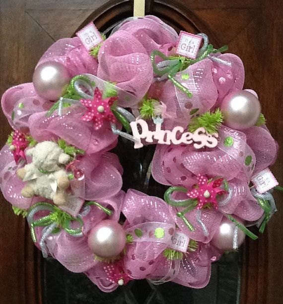 BABY GIRL WREATH by HertasWreaths on Etsy, $85.00