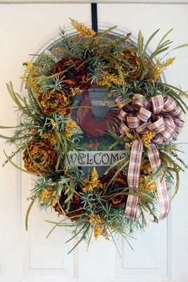 1000 Images About Rooster Wreaths On Pinterest Deco