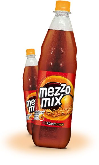 Mezzo Mix = cola and orange soda  NOT as good as Spezi you get in the restaurants but a close second!