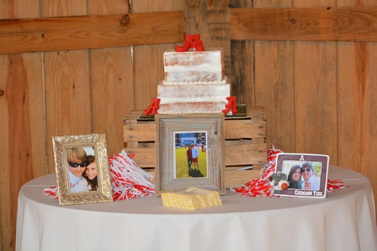 Pictures of my wedding!  My grooms Alabama cake by Vickie Kyser!