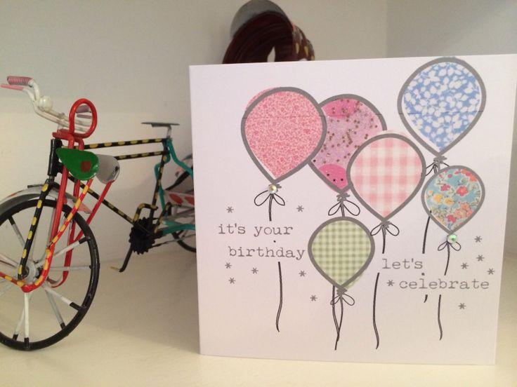 Birthday balloon card @ etsy shop thingsilove.me