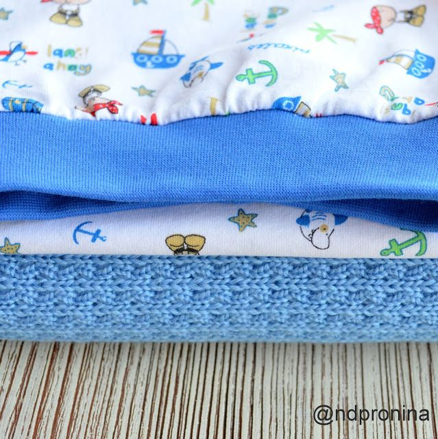 Энди. Студия детского трикотажа трикотаж, детская одежда, knit, knitwear, blue, babywear, pirates, plaid, hat