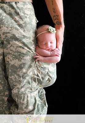 Daddy will always protect you!    One of my all time favorite #military #newborn #photography pics! :)