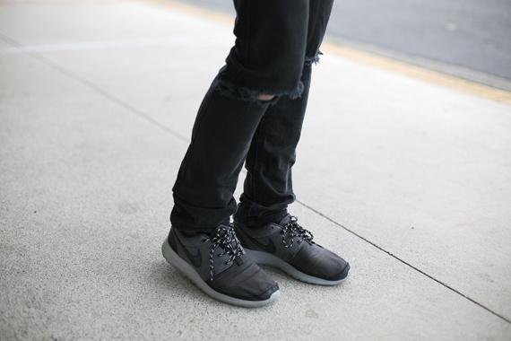 nike roshe run black style