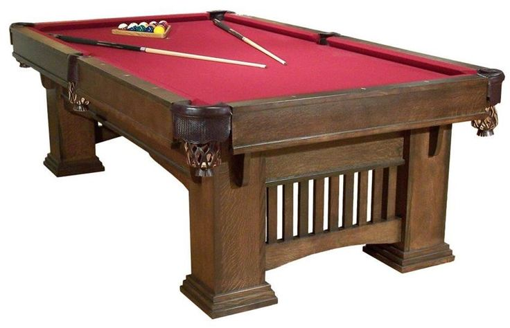 Amish Handcrafted Classic Mission Billiard Table