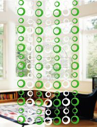 Online Shop CU13 Decorative curtains for doors ceiling bead curtain loop curtain green and white color block decoration Aliexpress Mobile