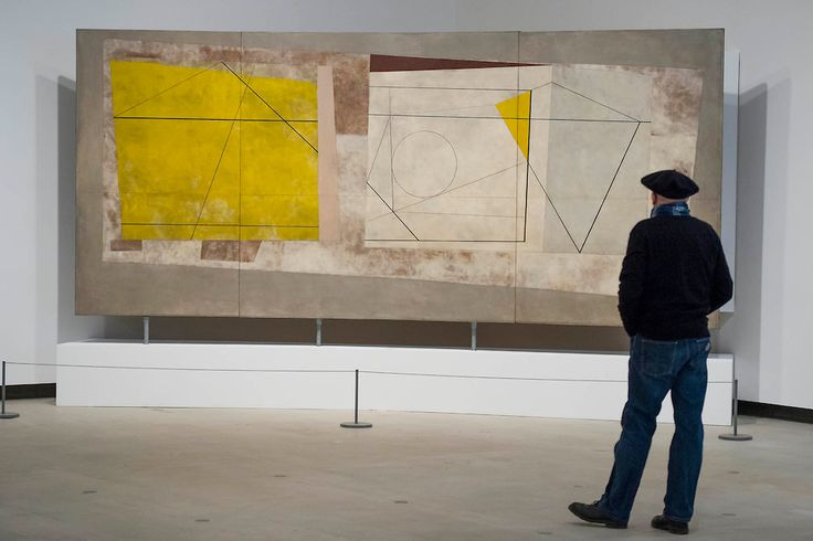Festival of Britain Mural by Ben Nicholson in the room curated by ...