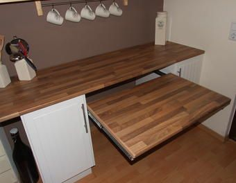 Ausziehbarer Tisch Unter Der Kchenarbeitsplatte TischKcheArbeitsplatte AusziehbarKchenarbeitsplatte