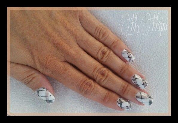 White Burberry nails
