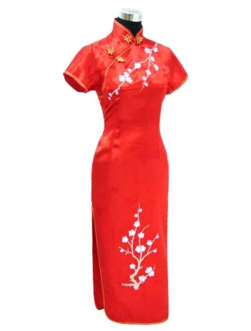 Robe chinoise longue rouge sur la cité interdite http://www.laciteinterdite.com/robe-chinoise-longue-rouge-c2x12792822