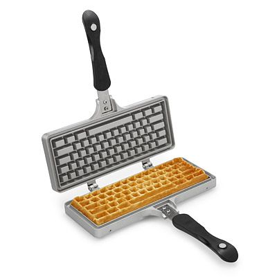 Enjoy a breakfast that's Control-Alt-Delicious with this geek-chic waffle iron.