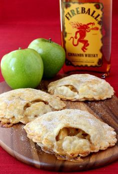 Fireball Whisky Apple Pies are the perfect dessert for your next party!