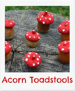 Totally toady: These acorn toadstools are an adorable fall DIY! #fall #acorn…