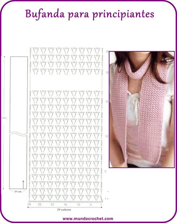 Atractivo Patrón De Crochet Bufanda Infinito Fácil Imágenes - Ideas ...