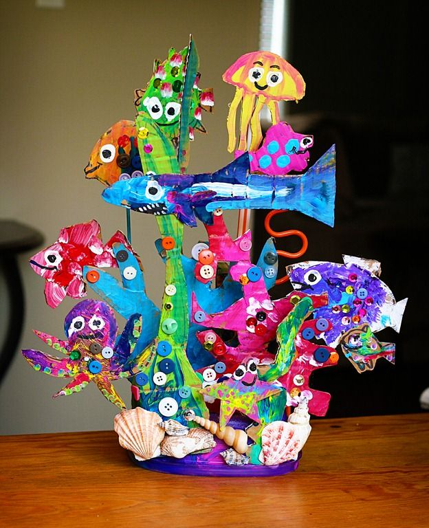 cool coral reef from smART class.  Love this.