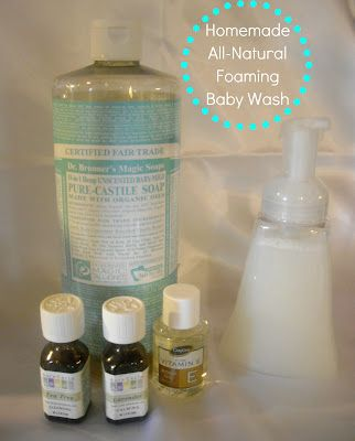 How to Make Your Own Safe & Natural Foaming Baby Wash! | Why We Love Green