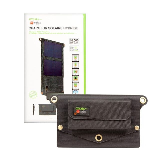 Chargeur solaire hybride 10000 Pack pro