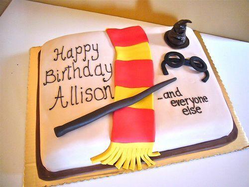 Simple Easy Harry Potter Birthday Cake - Happy Birthday Cake Design