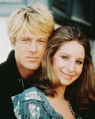 Robert Redford and Barbara Streisand, The Way We Were, and does he look gorgeous, or what.
