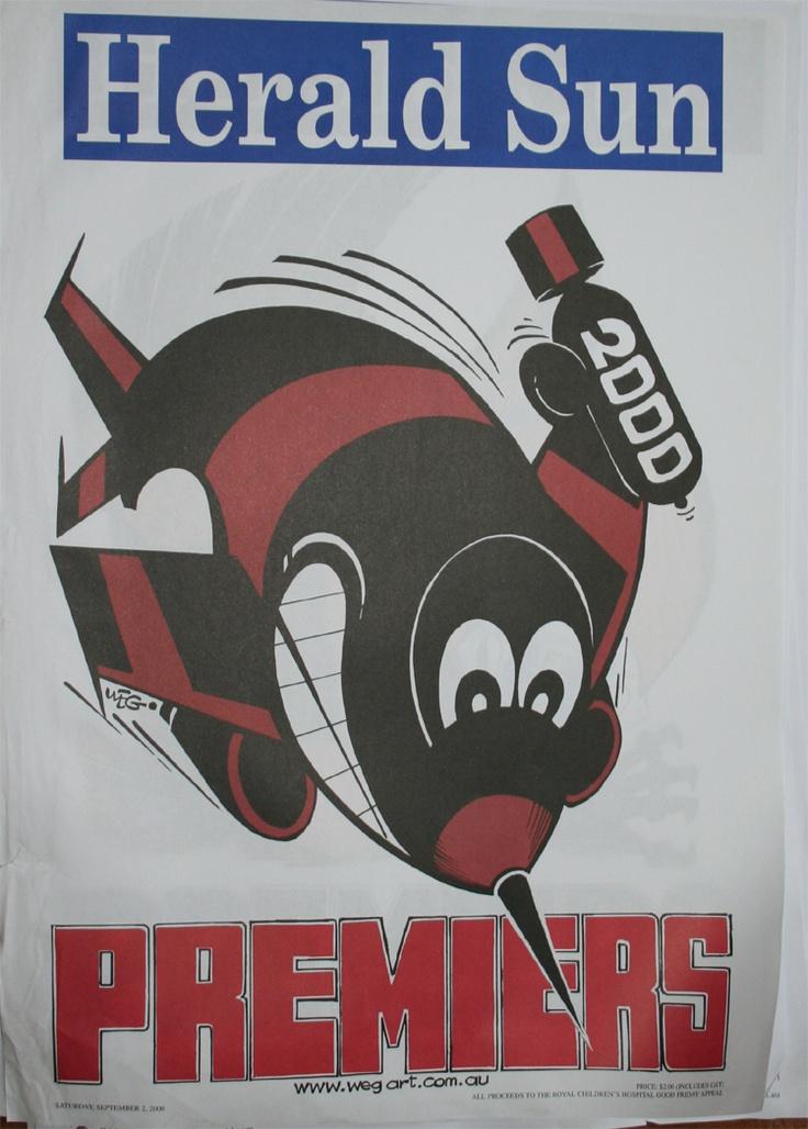 Weg Premiers Poster 2000 Essendon Bombers