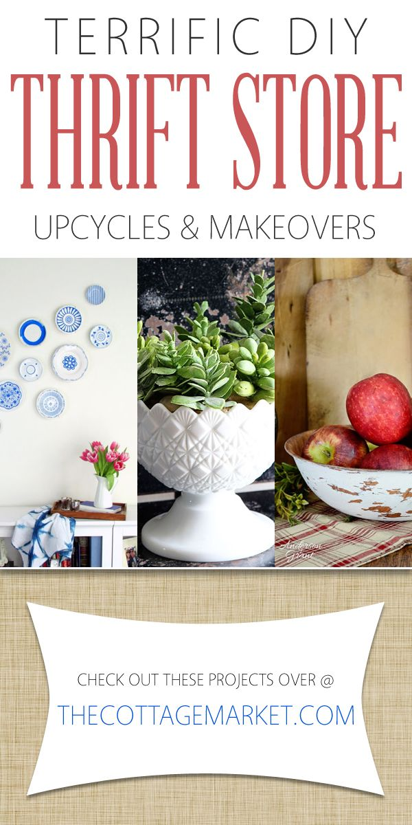 You LOVE DIY Thrift Store Upcycles and Makeovers and that is what we have for you today! ENJOY!