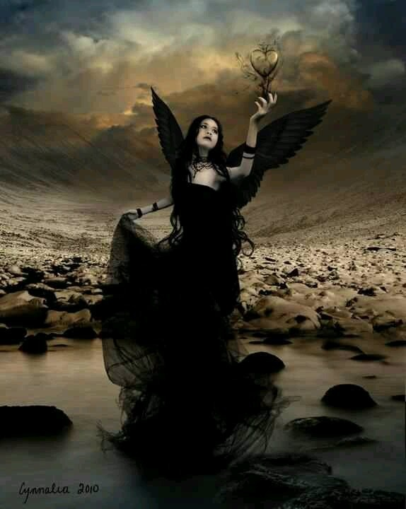 Gothic Angel, love the baackground
