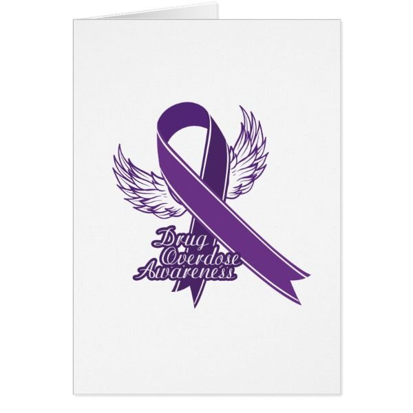 purple for drug overdose awareness gift card  cards