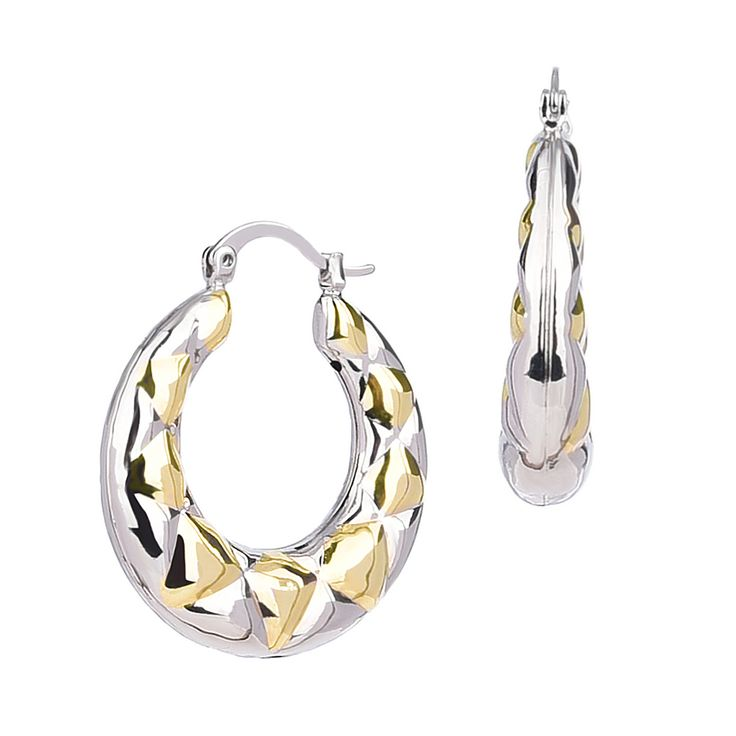 Or just a simple patterned hoop earrings? Not too much, could be worn everyday to pair with any outfits.