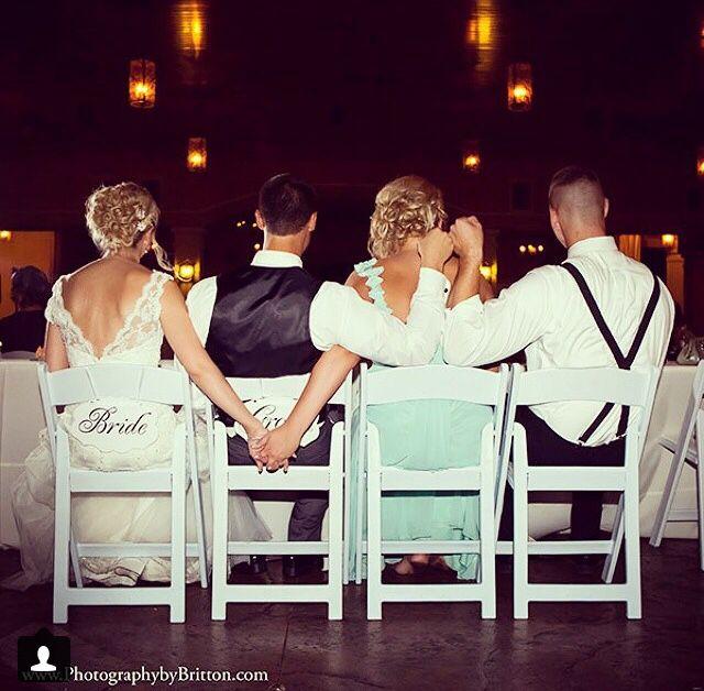 Bride/groom chairs  Mint bridesmaid dress