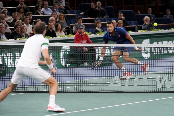 Un match franco-français au 2e tour : Jo-Wilfried Tsonga bat Julien Benneteau. ©FFT
