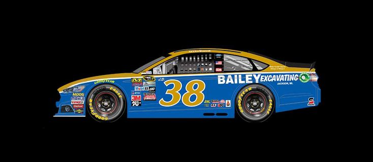 2016 Darlington throwback paint schemes | Landon Cassill No. 38 Front Row Motorsports Ford