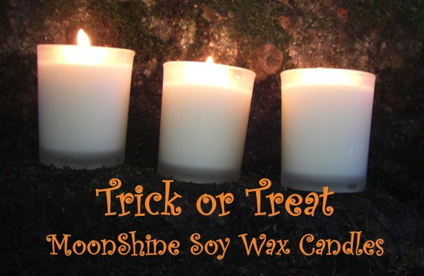 Trick or Treat? Try MoonShine Soy Wax Candles for a longer and cleaner burn...