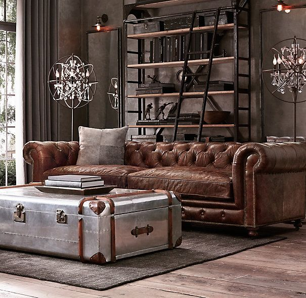 Claves Para Conseguir Un Estilo Masculino En Casa Chesterfield Living RoomChesterfield Leather SofaMasculine