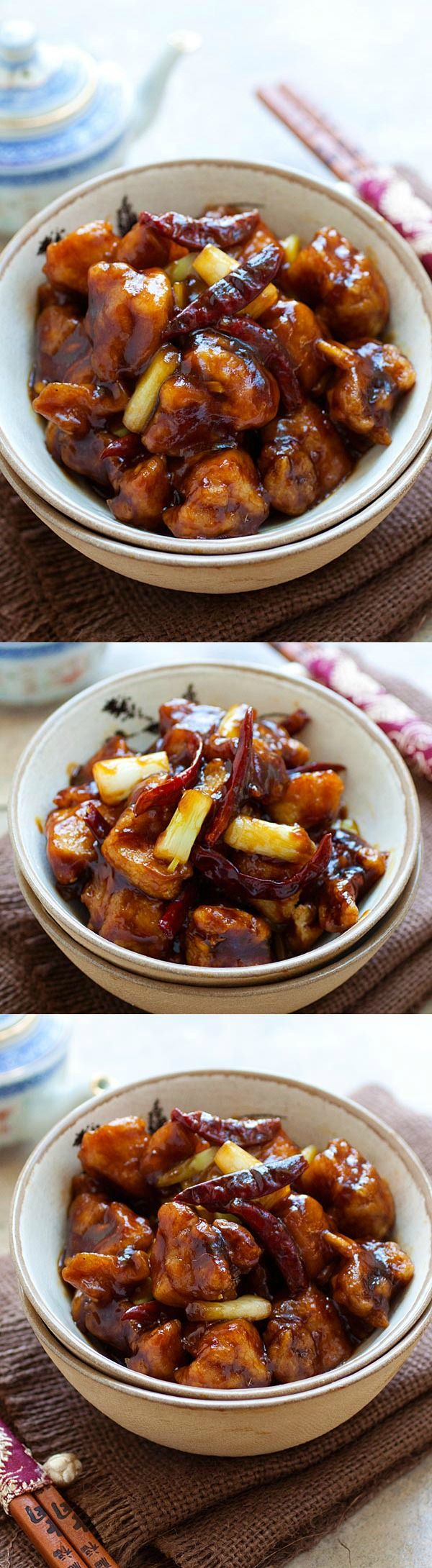 General Tso's chicken - BEST and easiest General Tso's Chicken ever. SO delicious and much better and healthier than Chinese takeout | rasamalaysia.com