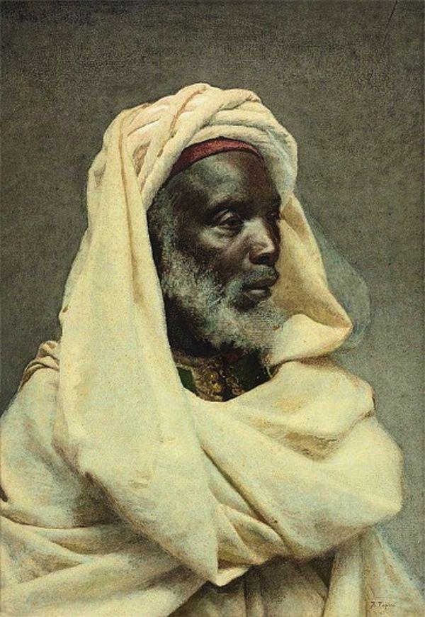 Portraits of Moroccans by Spanish artist José Tapiro y Baro (1830-1913)