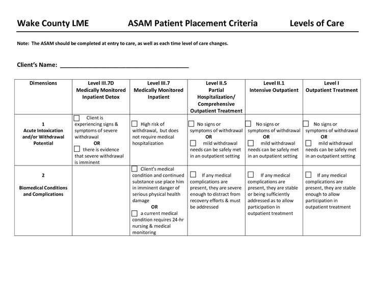 drug rehabilitation requirement assessment
