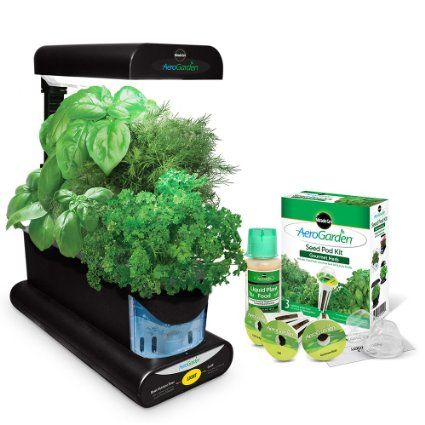 Miracle-Gro AeroGarden Sprout with Gourmet Herb Seed Pod Kit, Black  for more info seek link